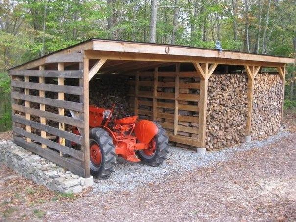 Строим сарай для дров